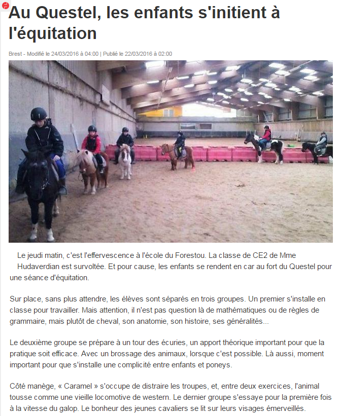 article_ouest_france_CE2_equitation_Forestou_au_Questel.png